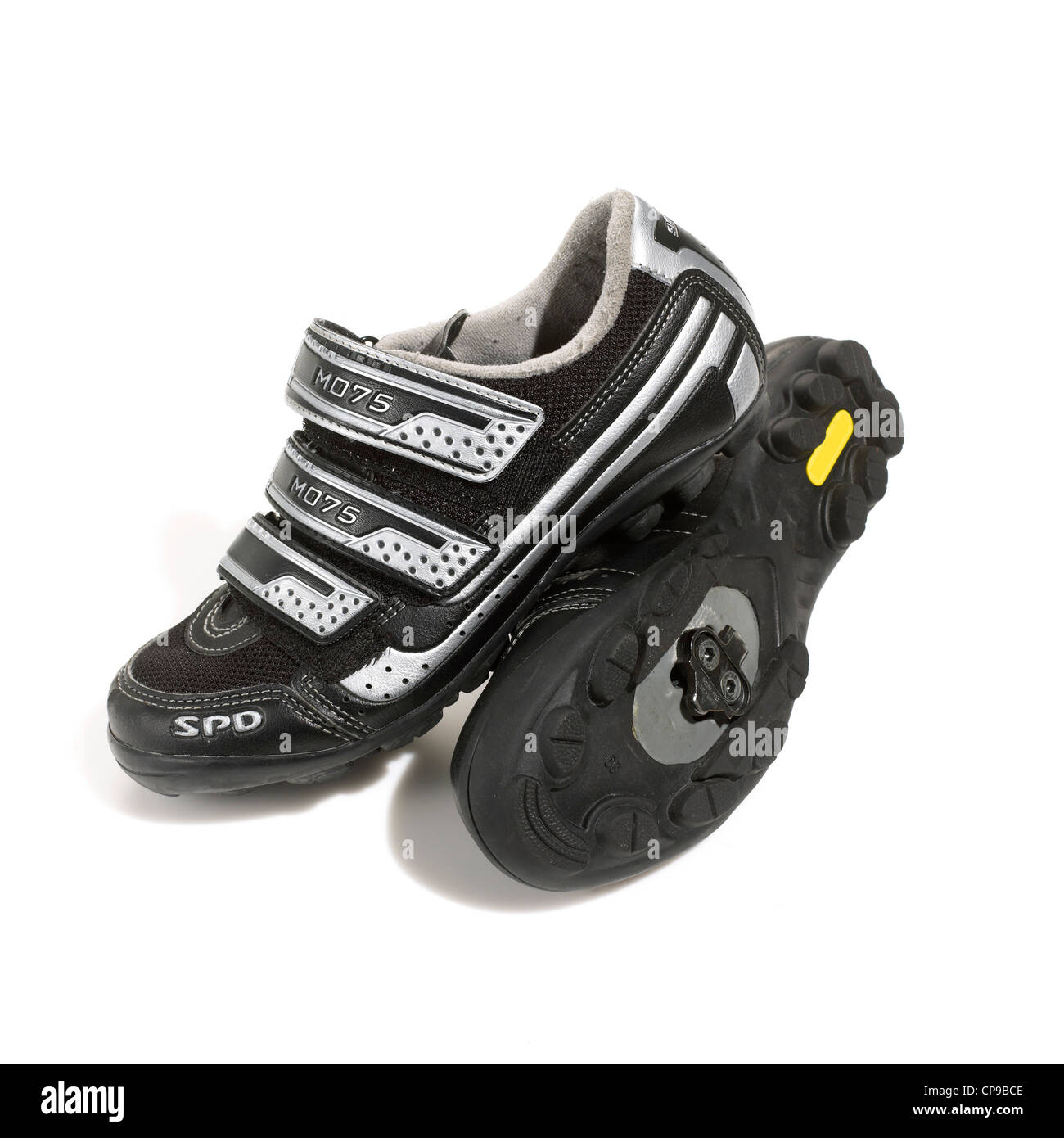 Athletic Spinning Shoes with Velcro - Stock Image