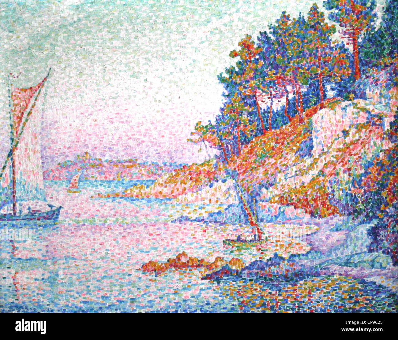 French paintings in the Royal Museums of Fine Arts of Belgium     Paul Signac - Stock Image
