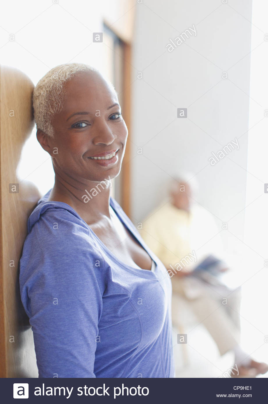55-59 years,60-64 years,california,casual clothing,color image,confidence,day,domestic life,focus on foreground,happiness,head - Stock Image