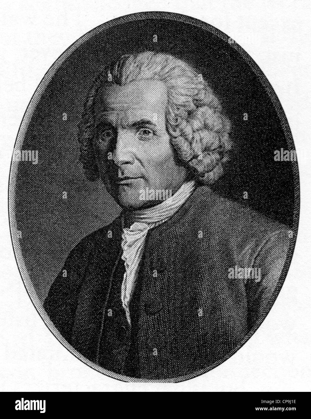Jean-Jacques Rousseau, Genevan philosopher, author and composer - Stock Image