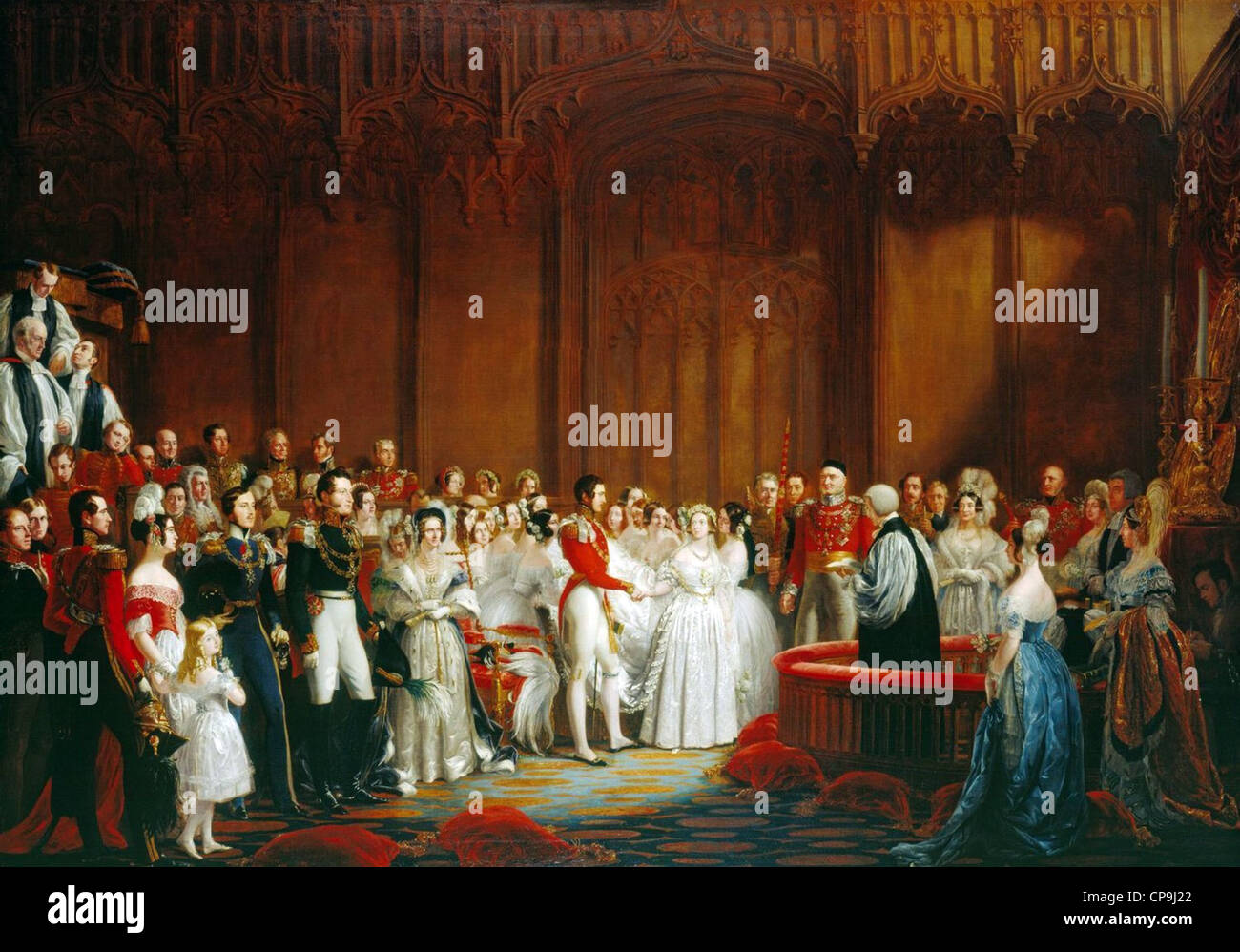 The Marriage of Queen Victoria, 10 February 1840 - Stock Image