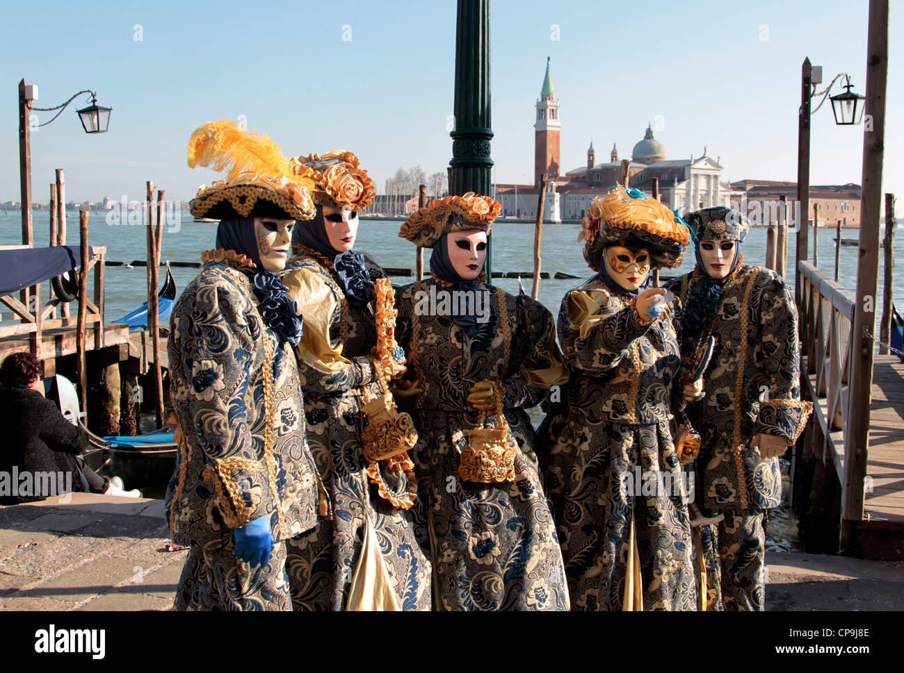 Karneval in Venedig, Carnival in Venice, Venedig,Itailen, Europa, Venice, Italy, Europe - Stock Image