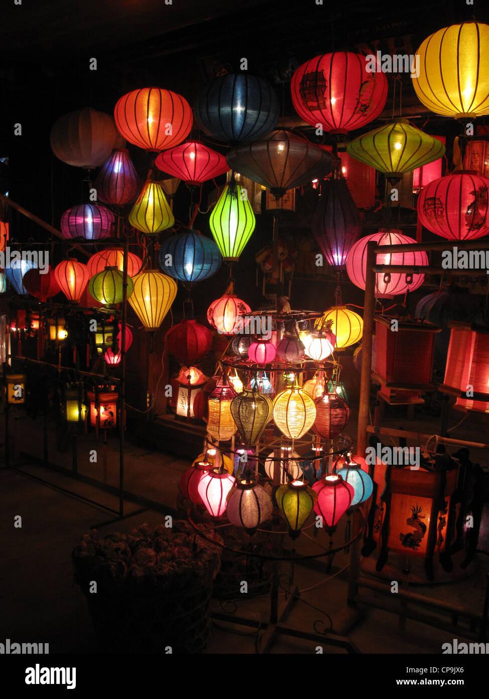 Lampions, Laternen, Hoi An, Vietnam, Asien - Stock Image