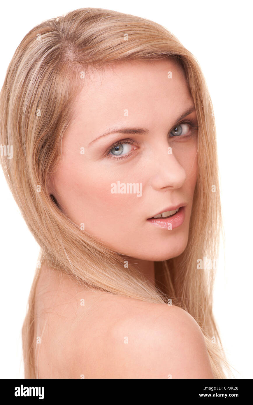 natural beauty headshot - Stock Image