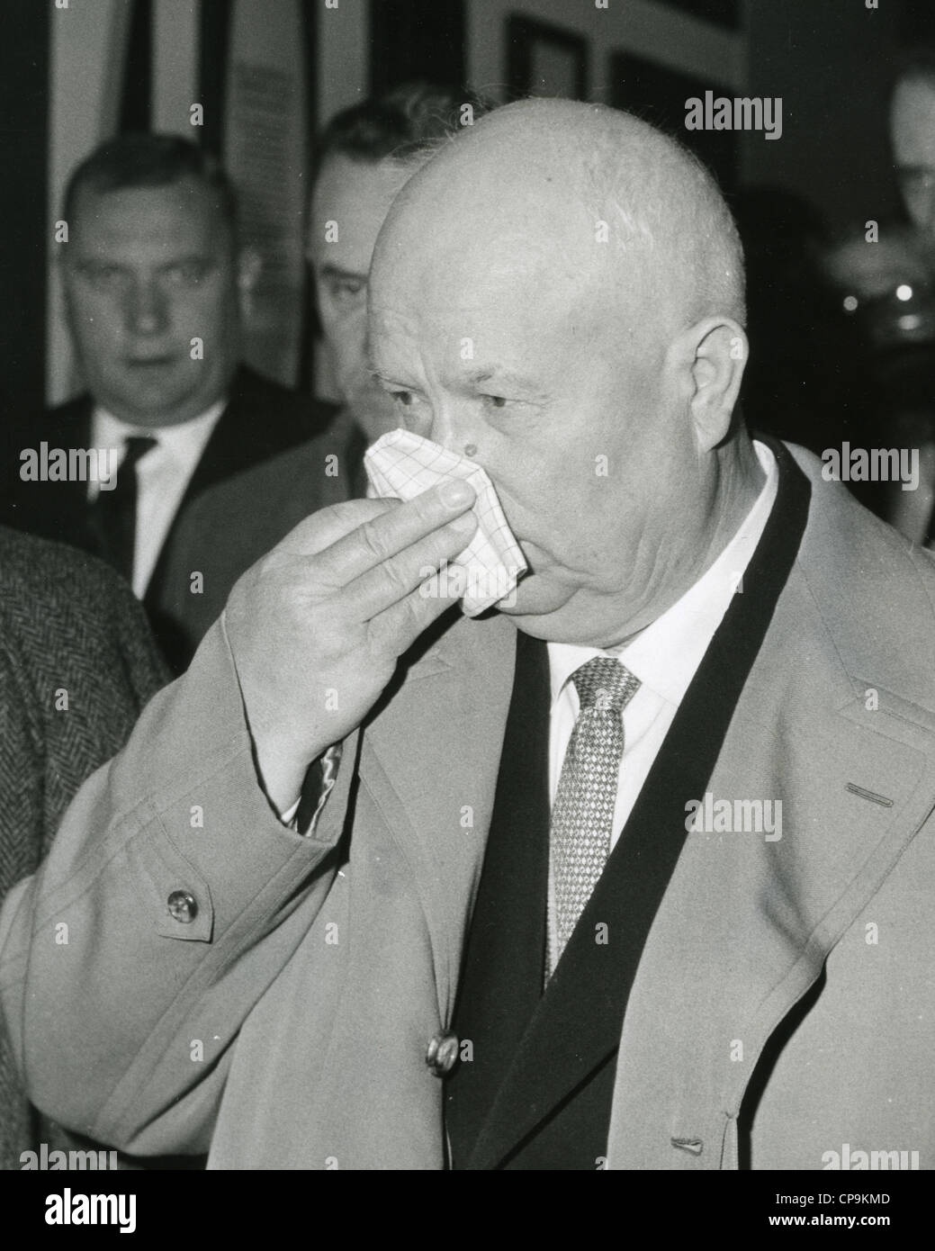 NIKITA KHRUSHCHEV (1894-1971) Soviet Russian politician in 1961. - Stock Image
