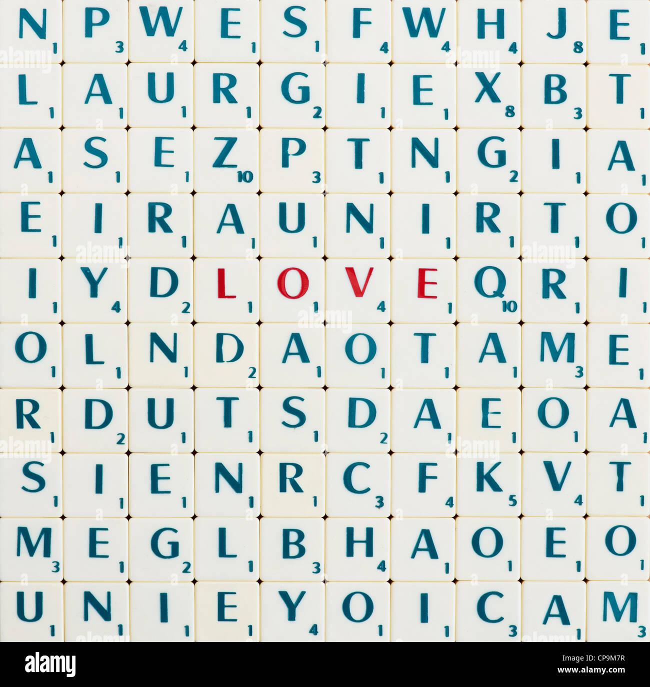 Scrabble Tiles The Word Scrabble Stock Photos & Scrabble