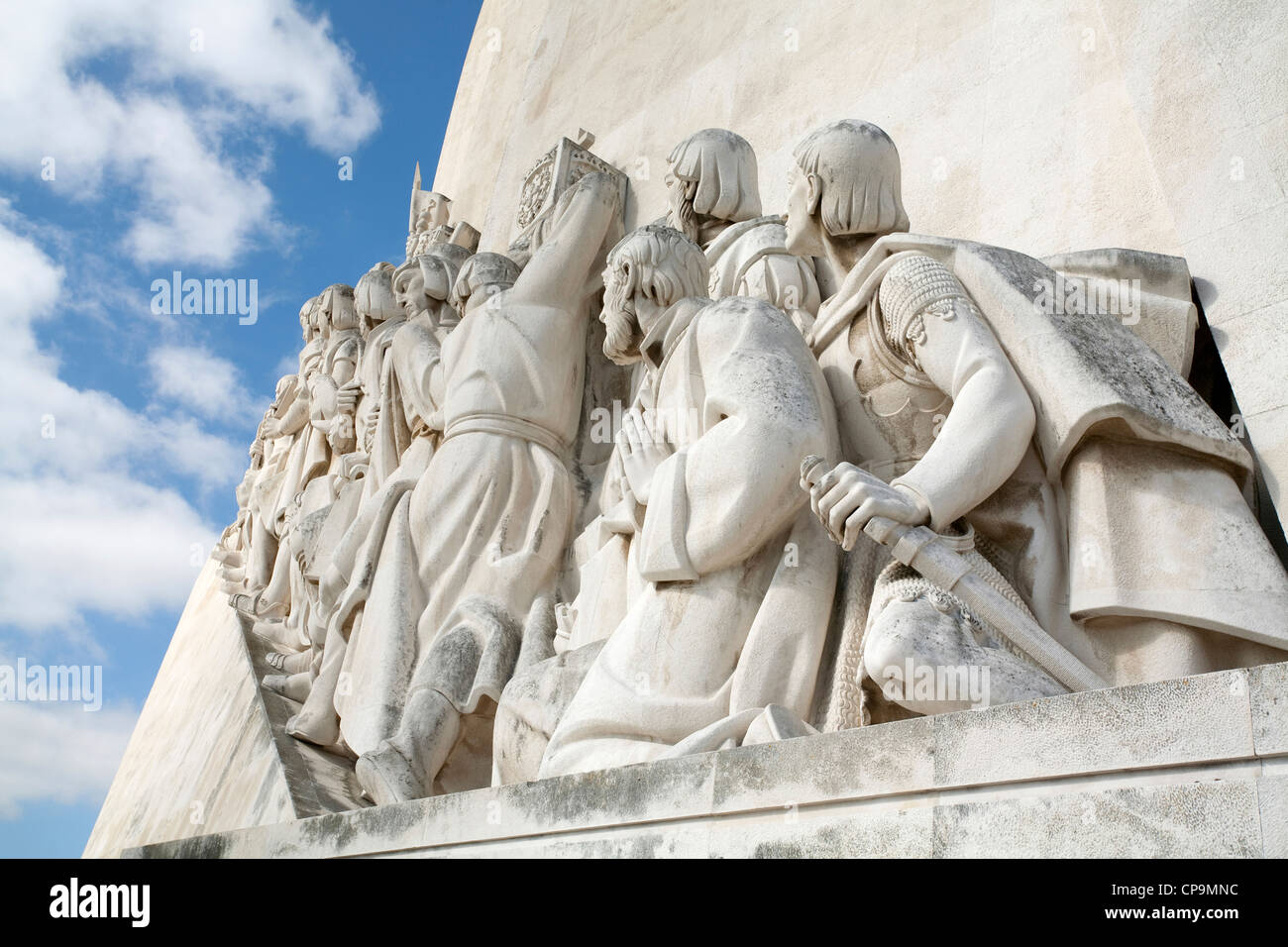 Monument to Portuguese Discoveries a large monument to sailors who carried out intensive maritime exploration by - Stock Image