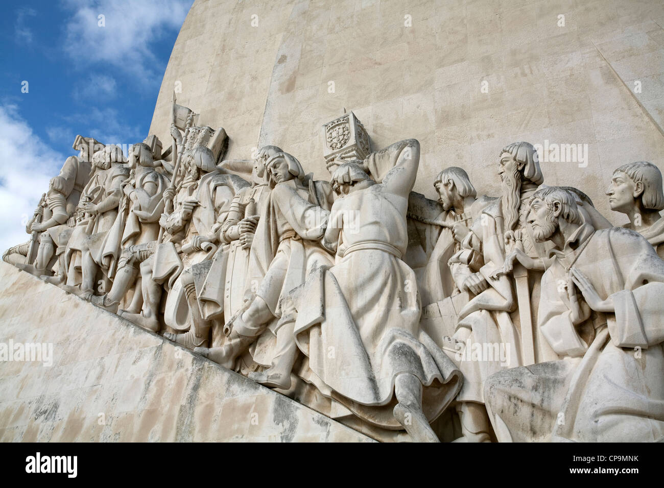 Monument to Portuguese Discoveries name given to intensive maritime exploration by Portuguese during 15th and 16th - Stock Image