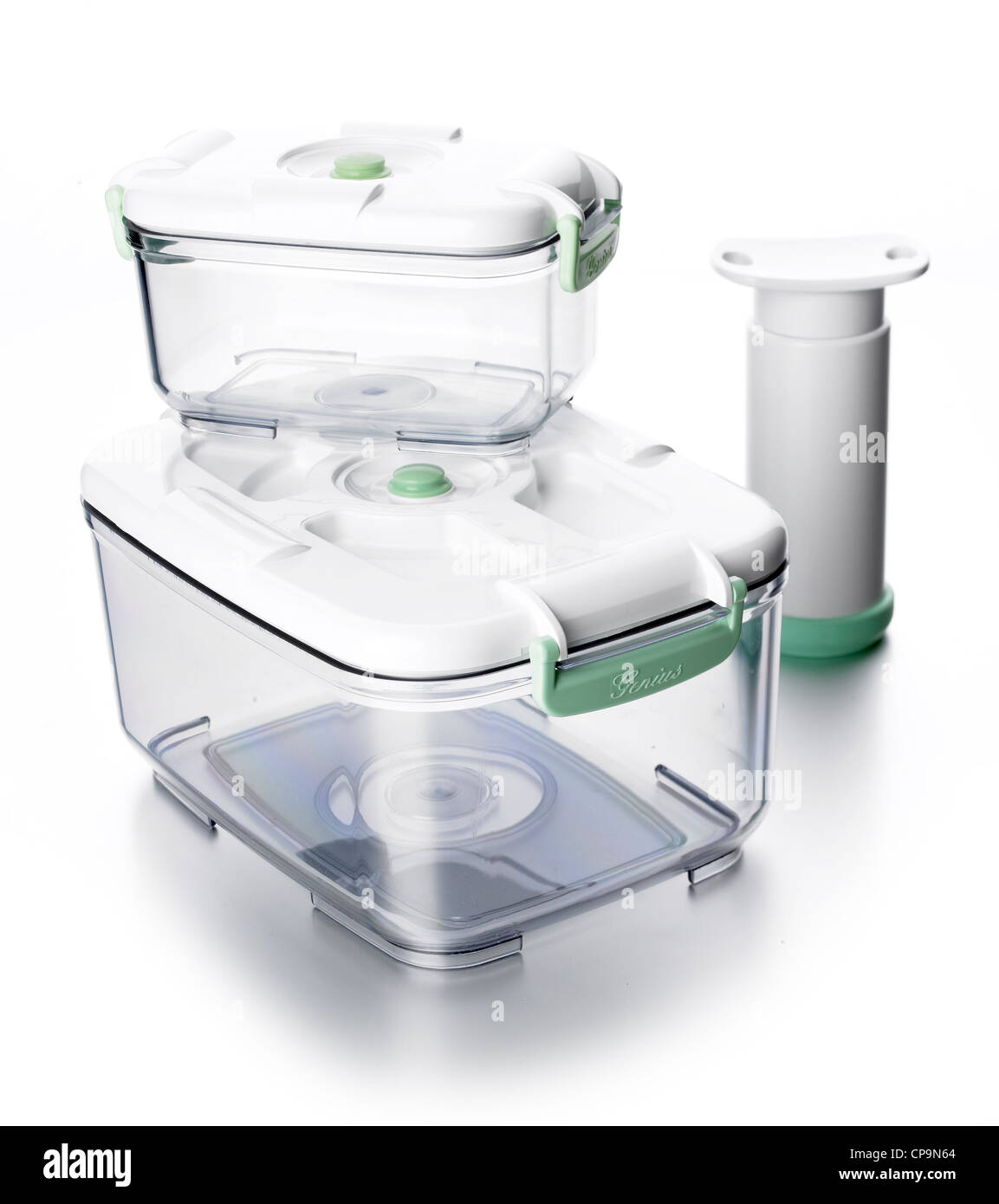 vacuum sealed left over boxes - Stock Image