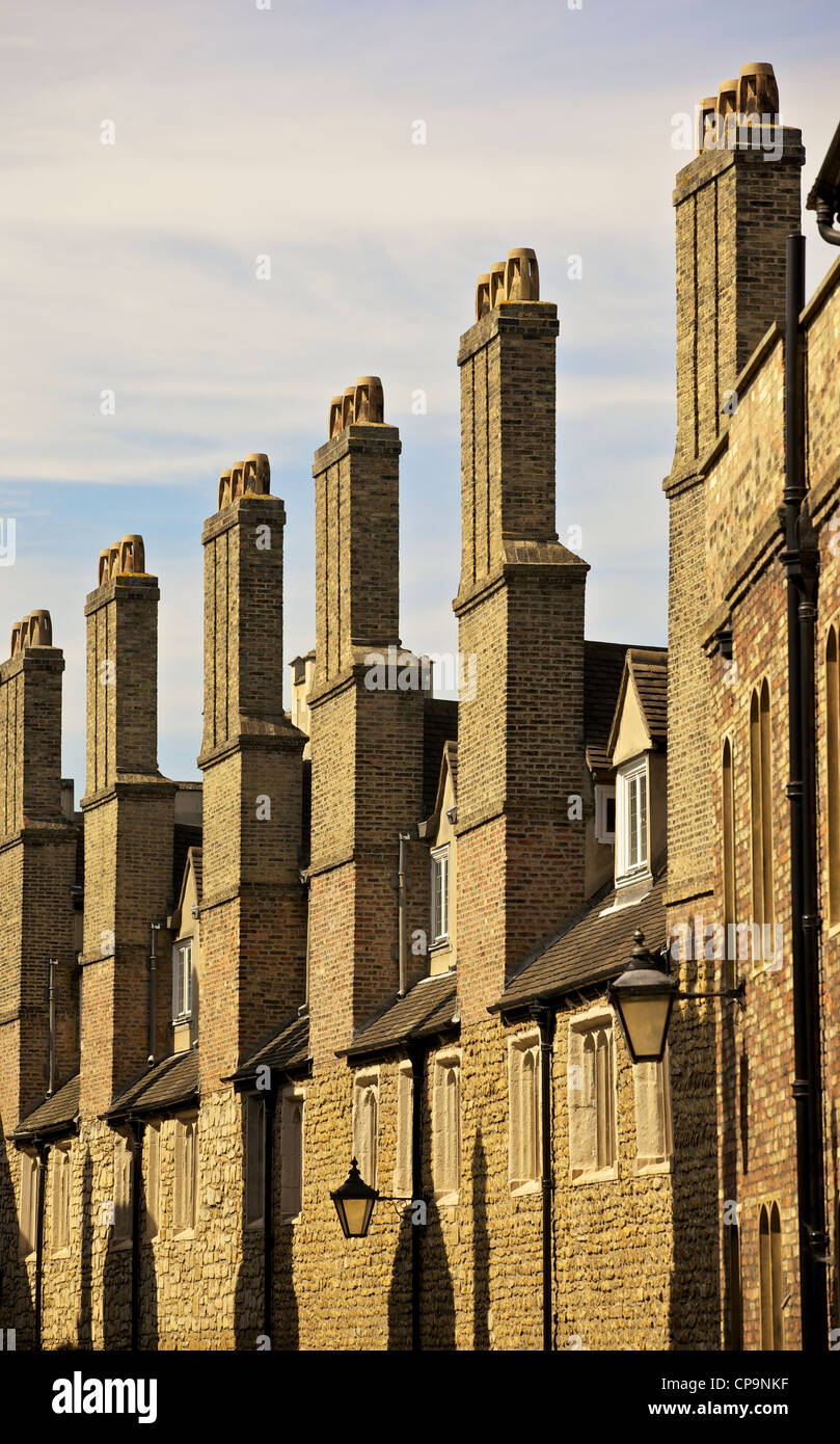 Trinity Lane, Cambridge, Cambridgeshire, England, showing south wall of Trinity College - Stock Image