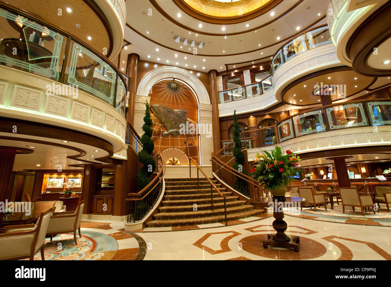 Luxury Cruise Ships Have Richly Decorated Interiors And