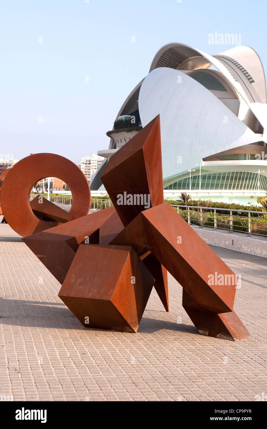 City of Arts and Sciences entertainment based cultural and architectural complex in the city of Valencia modern - Stock Image