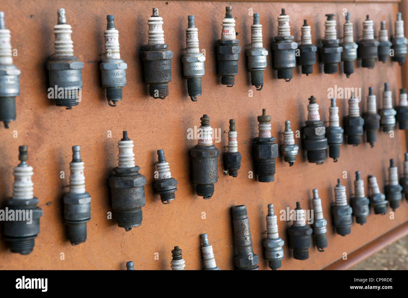 Vintage Spark Plugs Stock Photos & Vintage Spark Plugs Stock ... on harley plug wires, vintage sportster plug wires, vintage ignition coil, 426 hemi plug wires, vintage spark coil, vintage turn signals, vintage light bulbs, lightning bug plug wires, vintage ignition wires, vintage mirrors, vintage gauges,