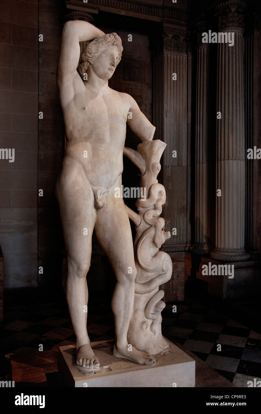 Apollo of the Lycian  Marble, Roman copy Greek origin 2 century AD Greek original traditionally attributed to Praxiteles Stock Photo