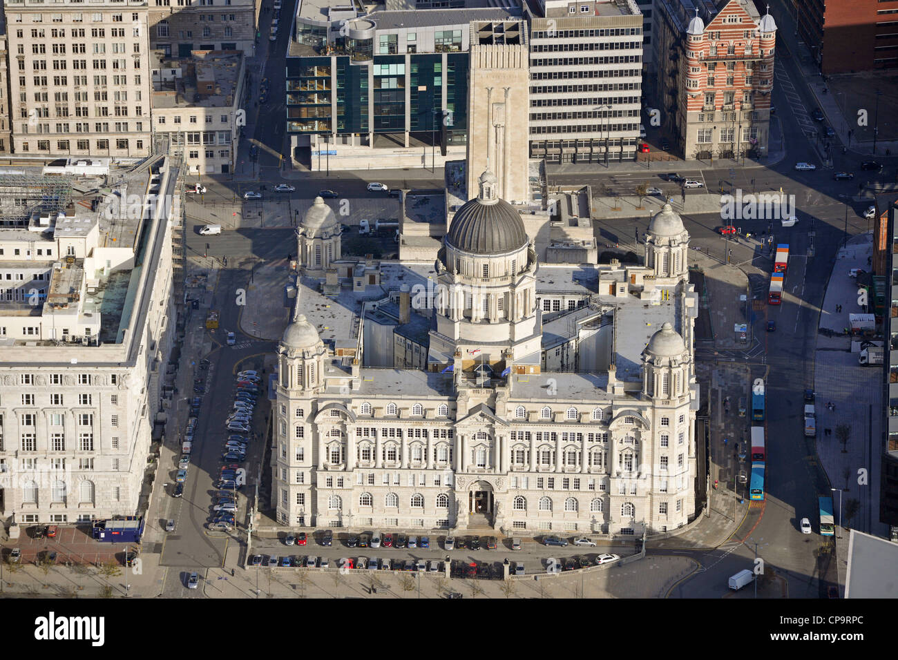 Aerial Image of the Port of Liverpool Building - Stock Image