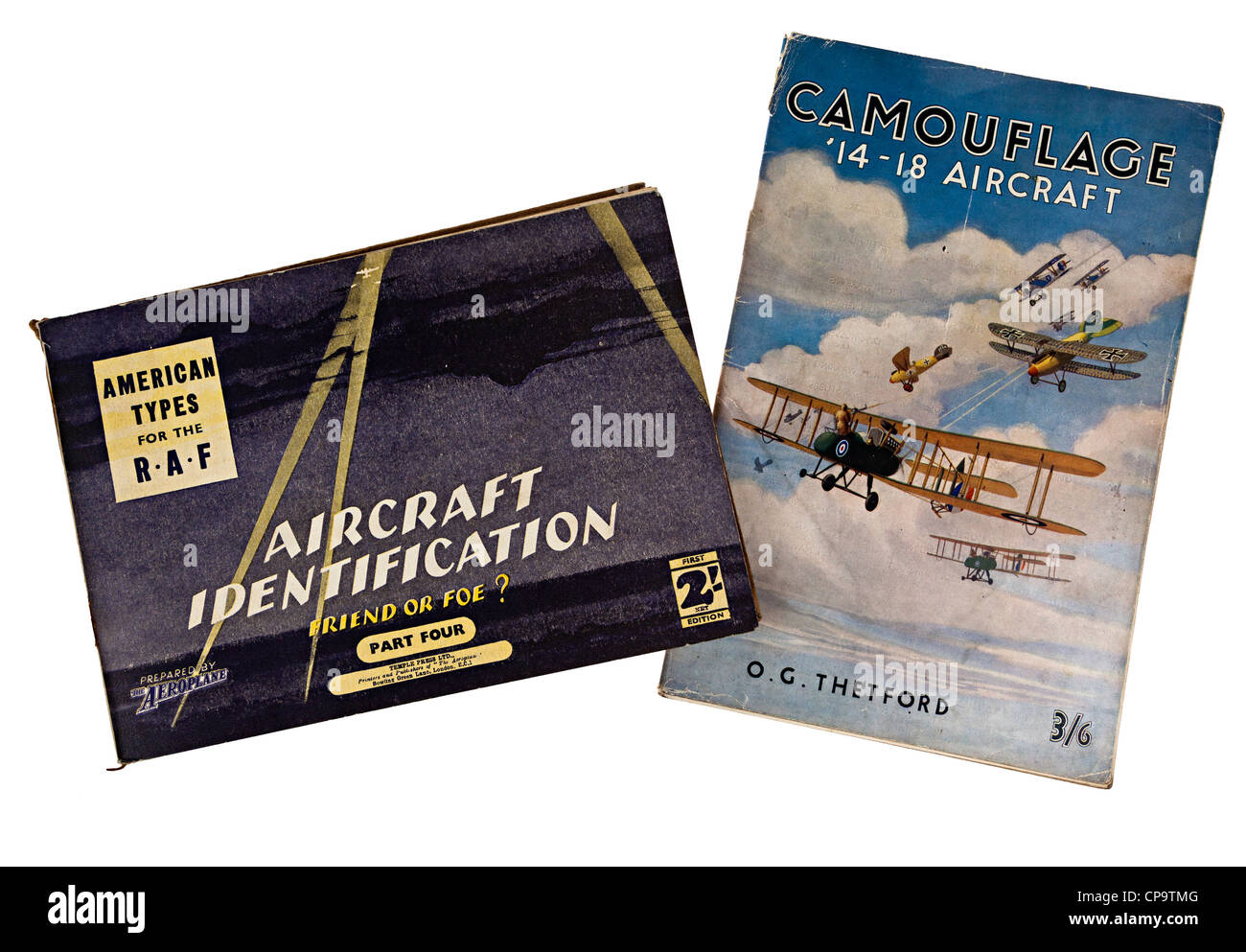 Books on aircraft recognition, identification and camouflage, UK - Stock Image