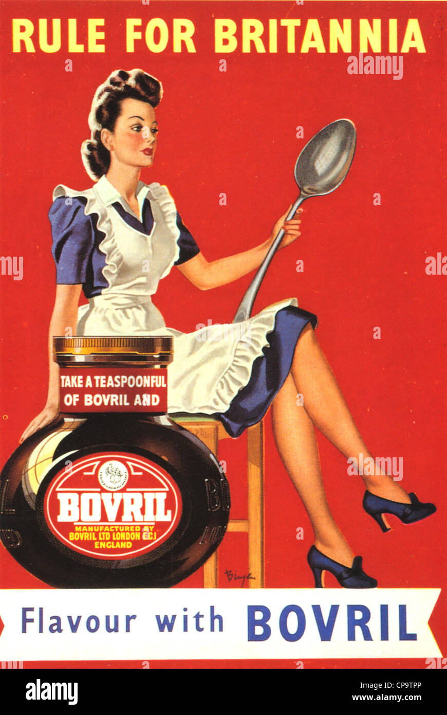 BOVRIL advert about 1945 - Stock Image