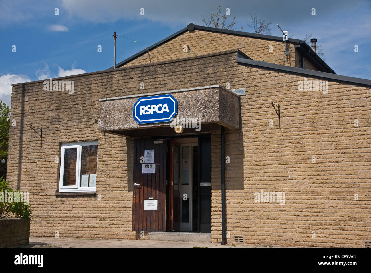Entrance to RSPCA building in Halifax - Stock Image