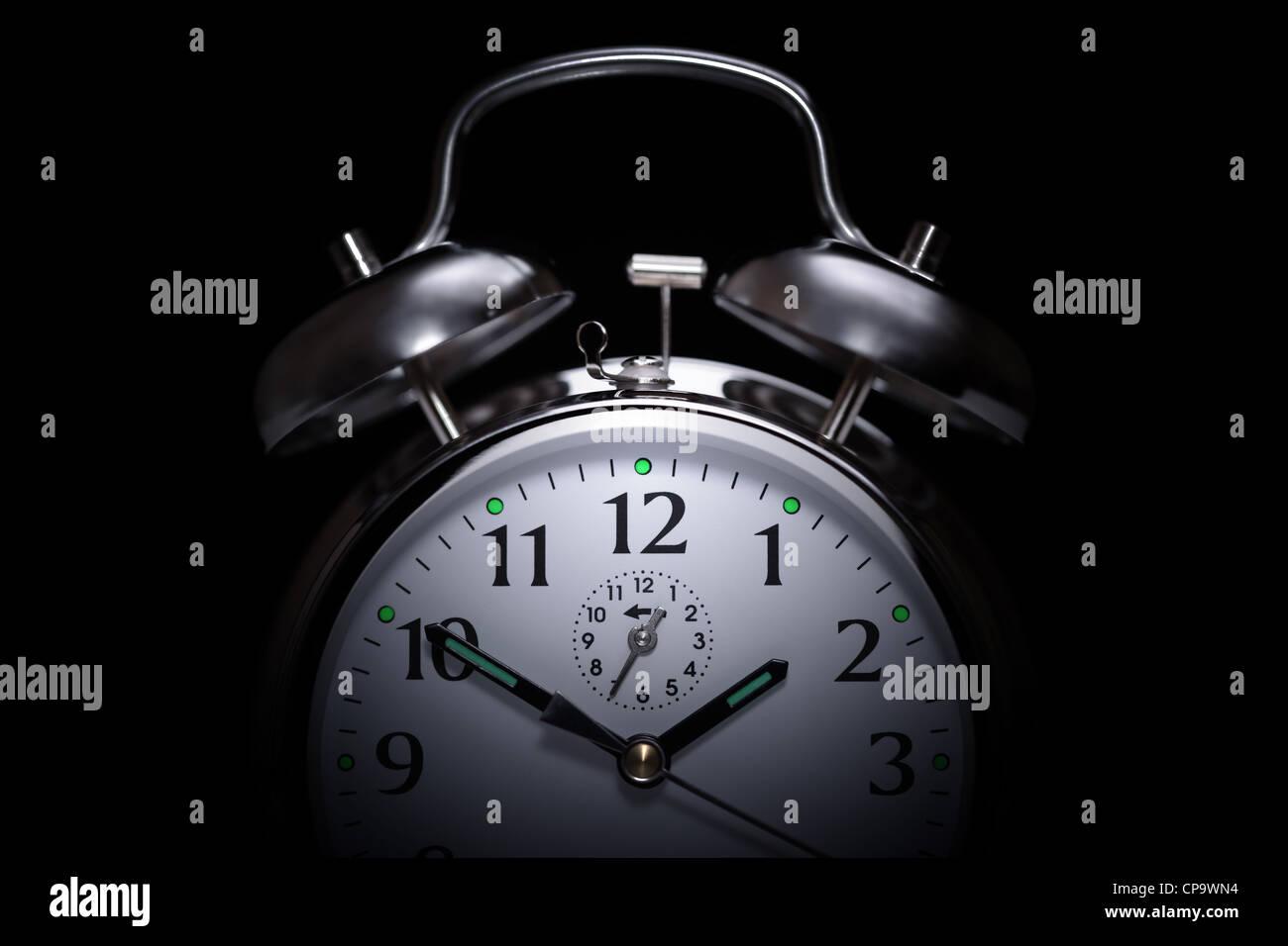 Alarm clock insomnia - Stock Image