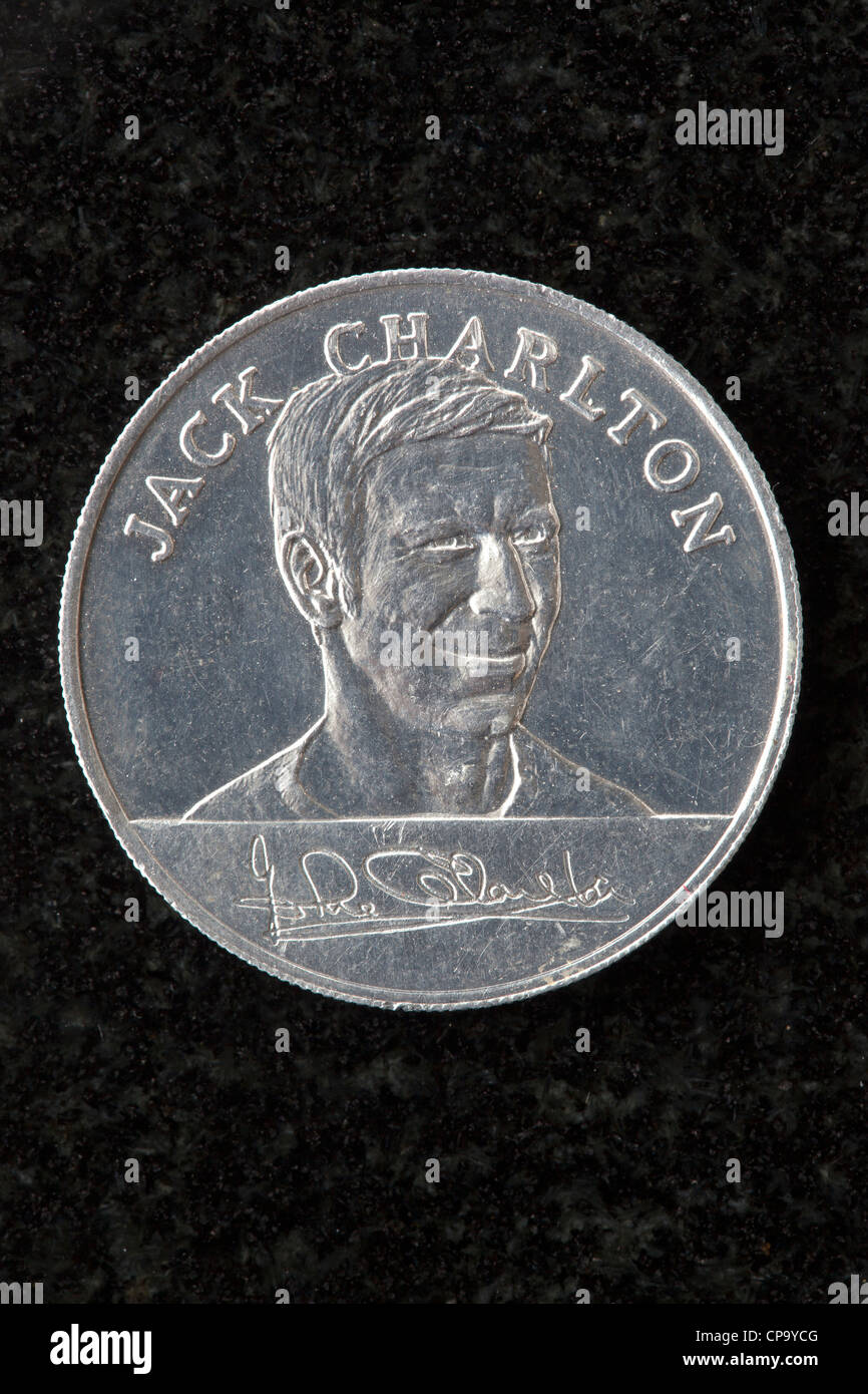 Esso 1970 World Cup Collectors Coin - Jack Charlton - Stock Image