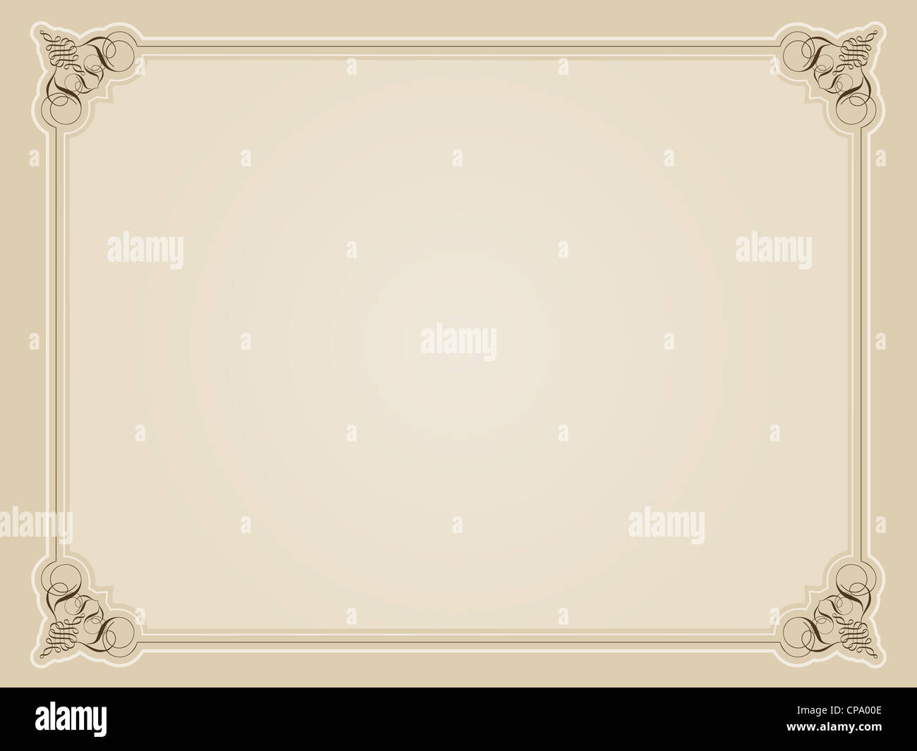 vintage style decorative border in sepia tones stock image
