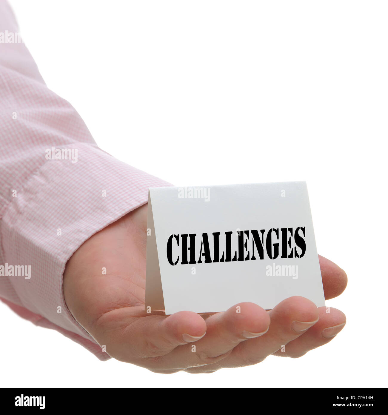 Challenges - Sign Series - Stock Image