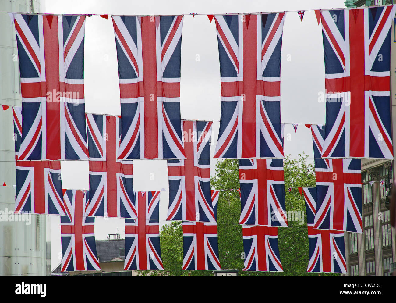 Union flags in London - Stock Image