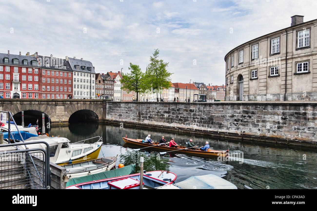 Frederiksholms Canal in Copenhagen in Denmark - Stock Image
