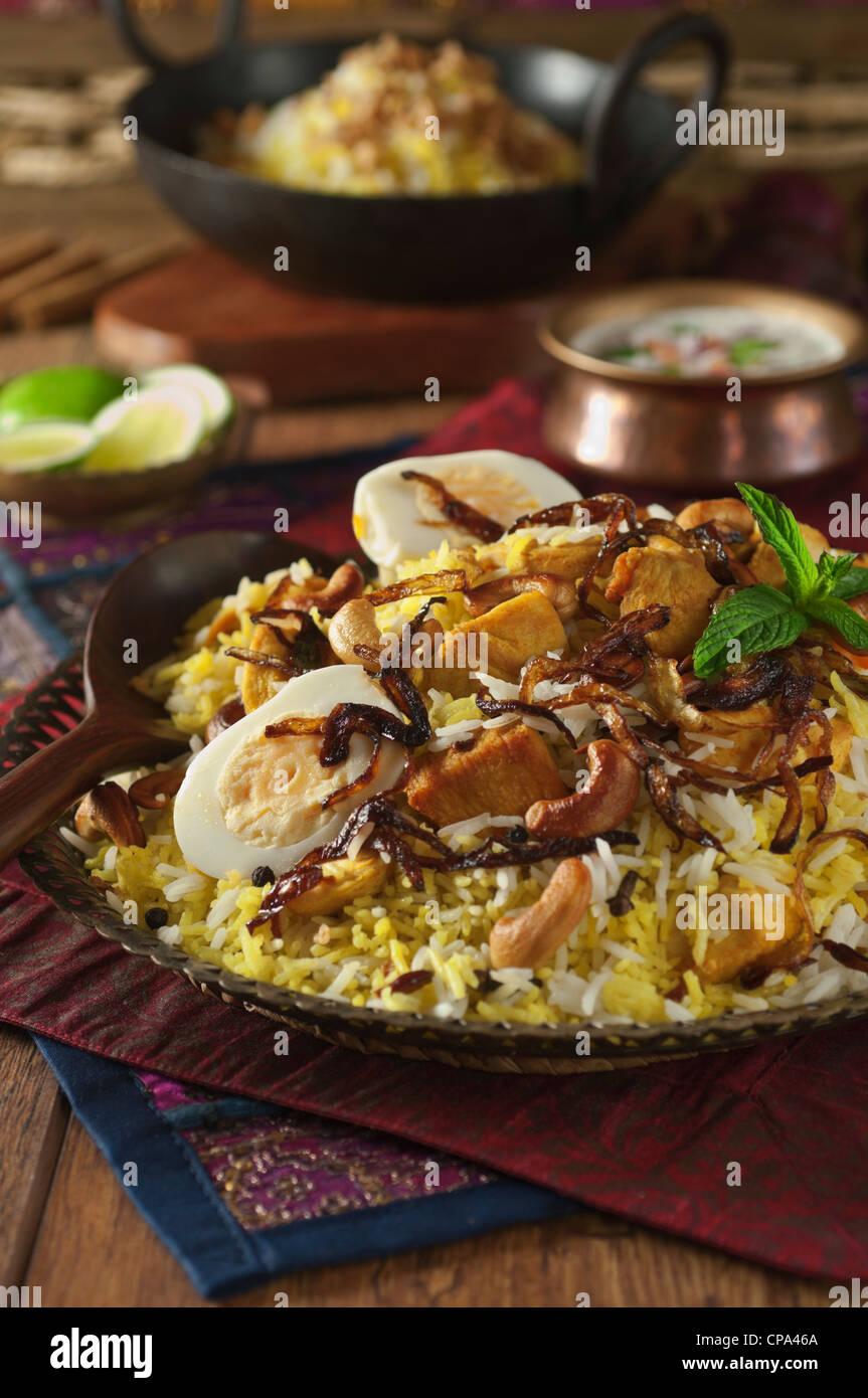 Hyderabadi biryani indian food stock photo 48166002 alamy hyderabadi biryani indian food forumfinder Image collections