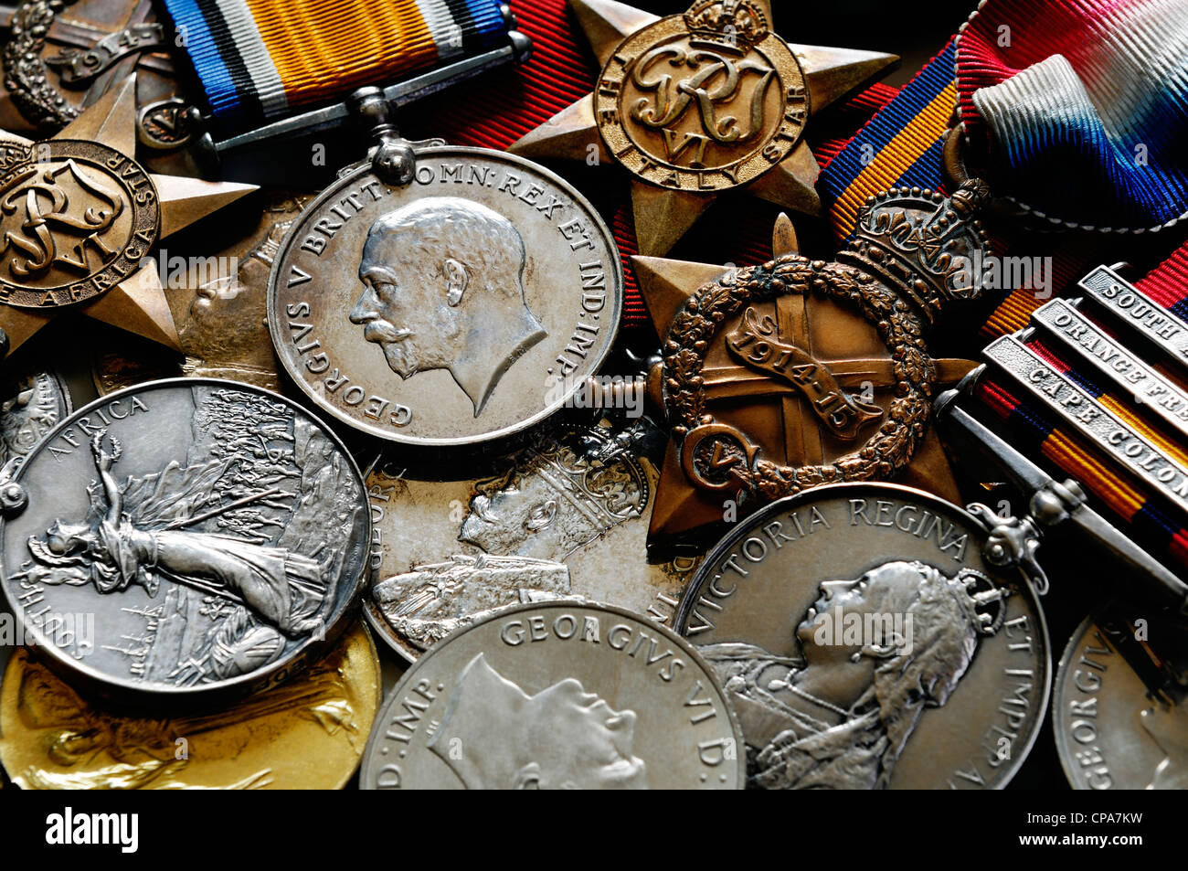 British Military Medals - Stock Image