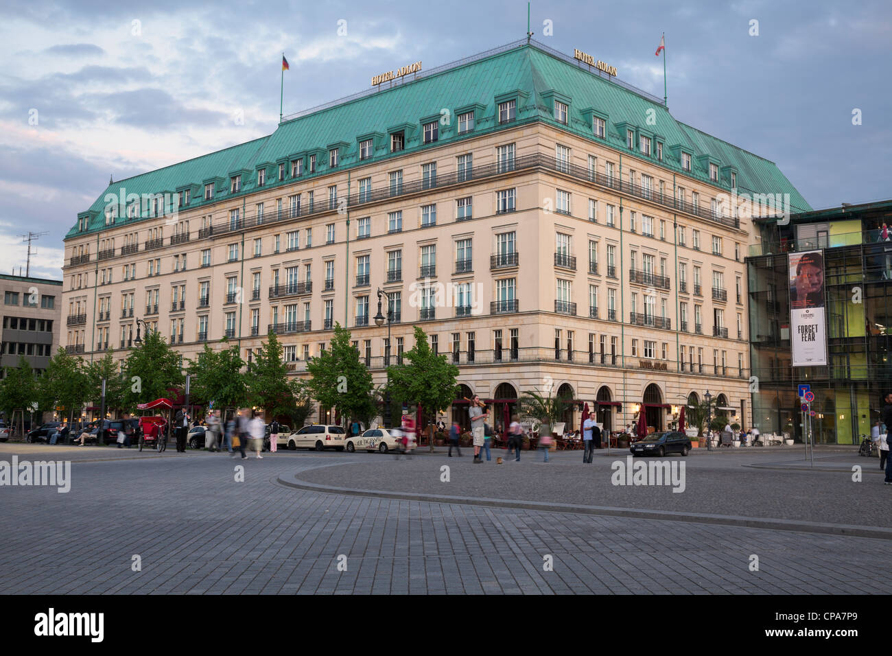 Hotel Adlon Kempinski on Pariser Platz, Berlin, Germany - Stock Image
