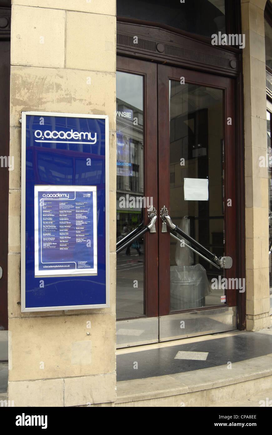 Brixton Academy main entrance by day nobody Stock Photo