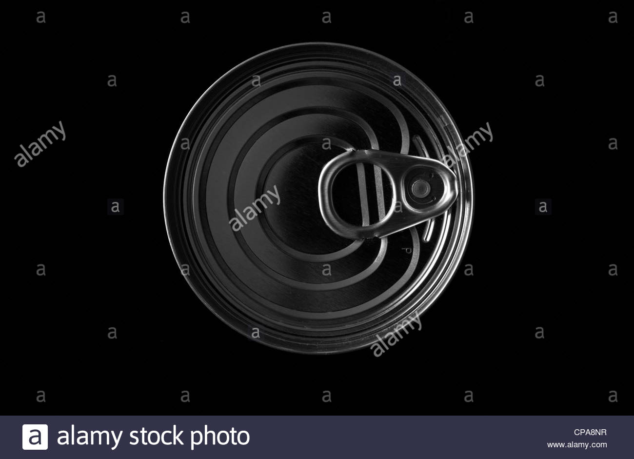 everyday kitchen items and utensils - tin can - Stock Image