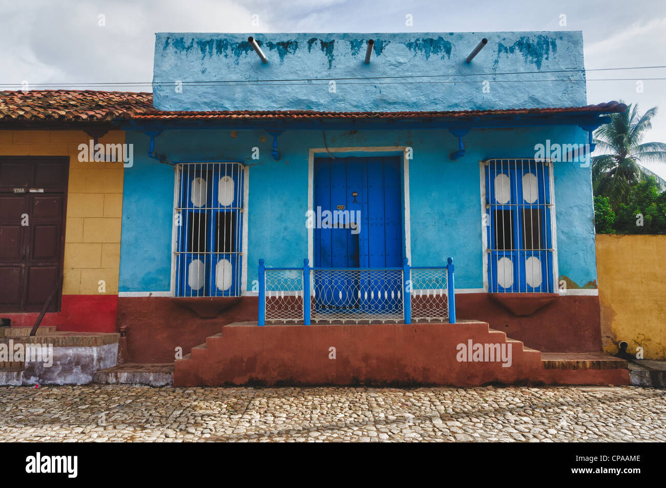 Trinidad, Cuba. View of Trinidad street, one of UNESCOs World Heritage sites since 1988. - Stock Image