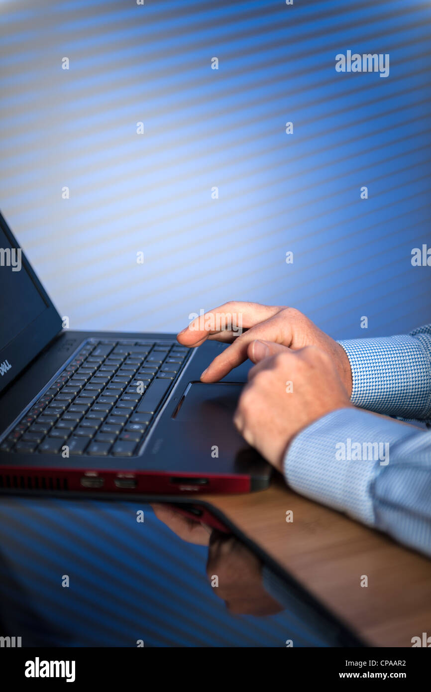 Business Laptop - Stock Image