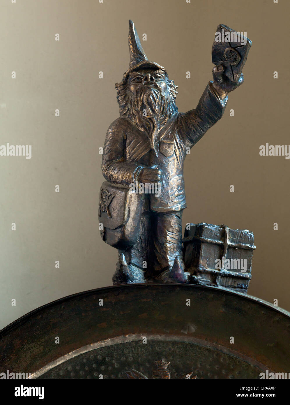 These little bronze sculptures of fairy-tale gnomes are far from the tourist-industry icons that they first appear Stock Photo