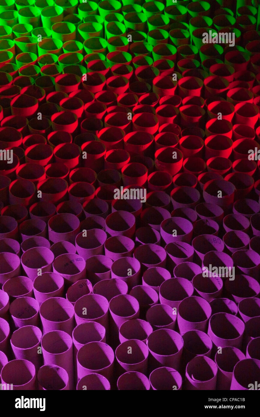 Red green and purple pattern - Stock Image