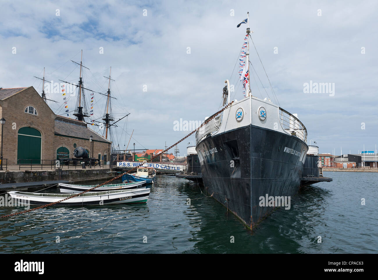 Hartlepool Historic Quay now known as Hartlepool's Maritime Experience - Stock Image