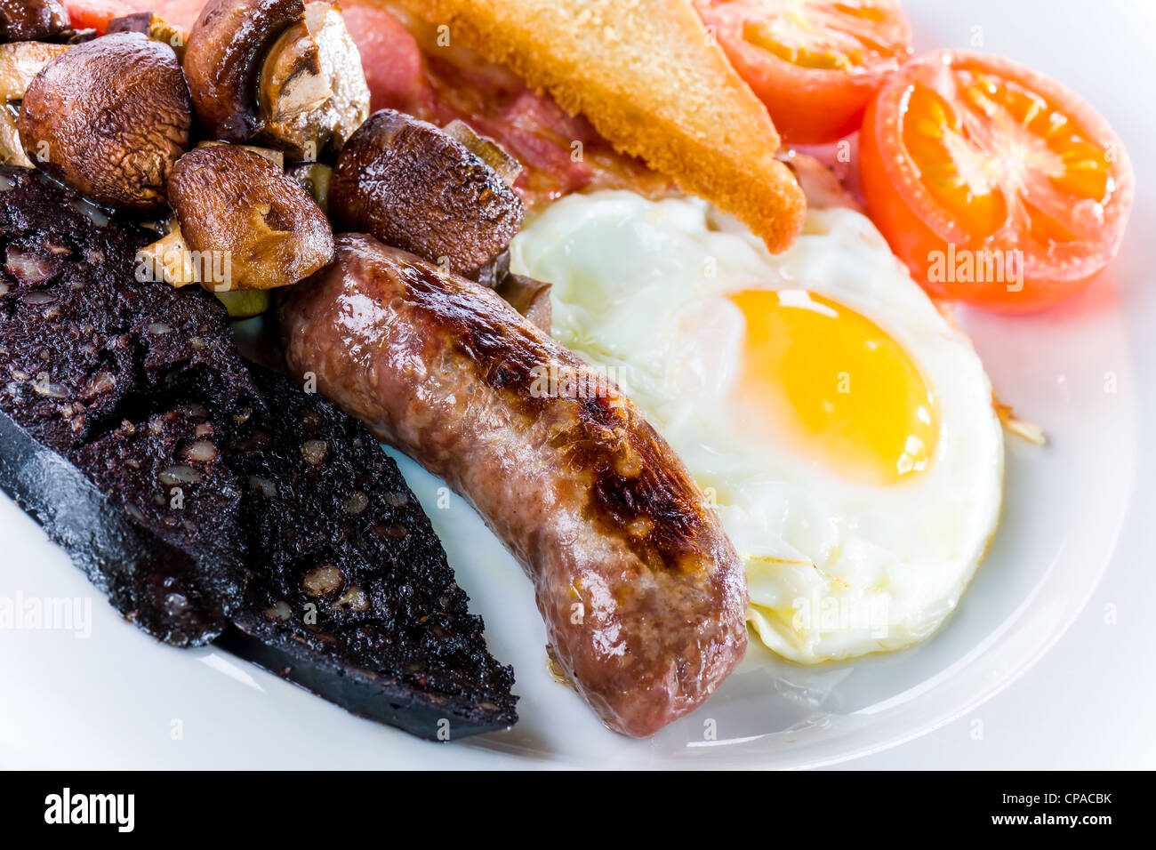 Full English Breakfast - Stock Image