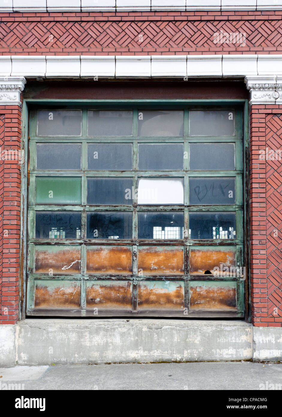 Old Manufacturing Door In Downtown Seattle Washington, USA