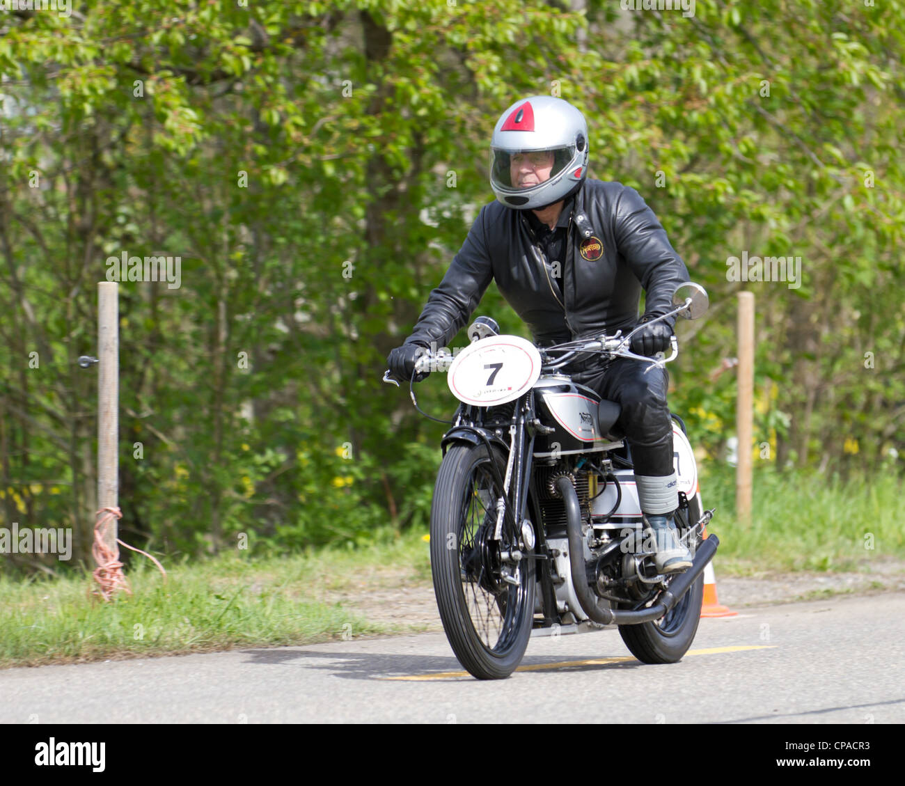 Vintage motorbike Norton Mod. 20 from 1932 on display at Grand Prix in Mutschellen, SUI on April 29, 2012 - Stock Image