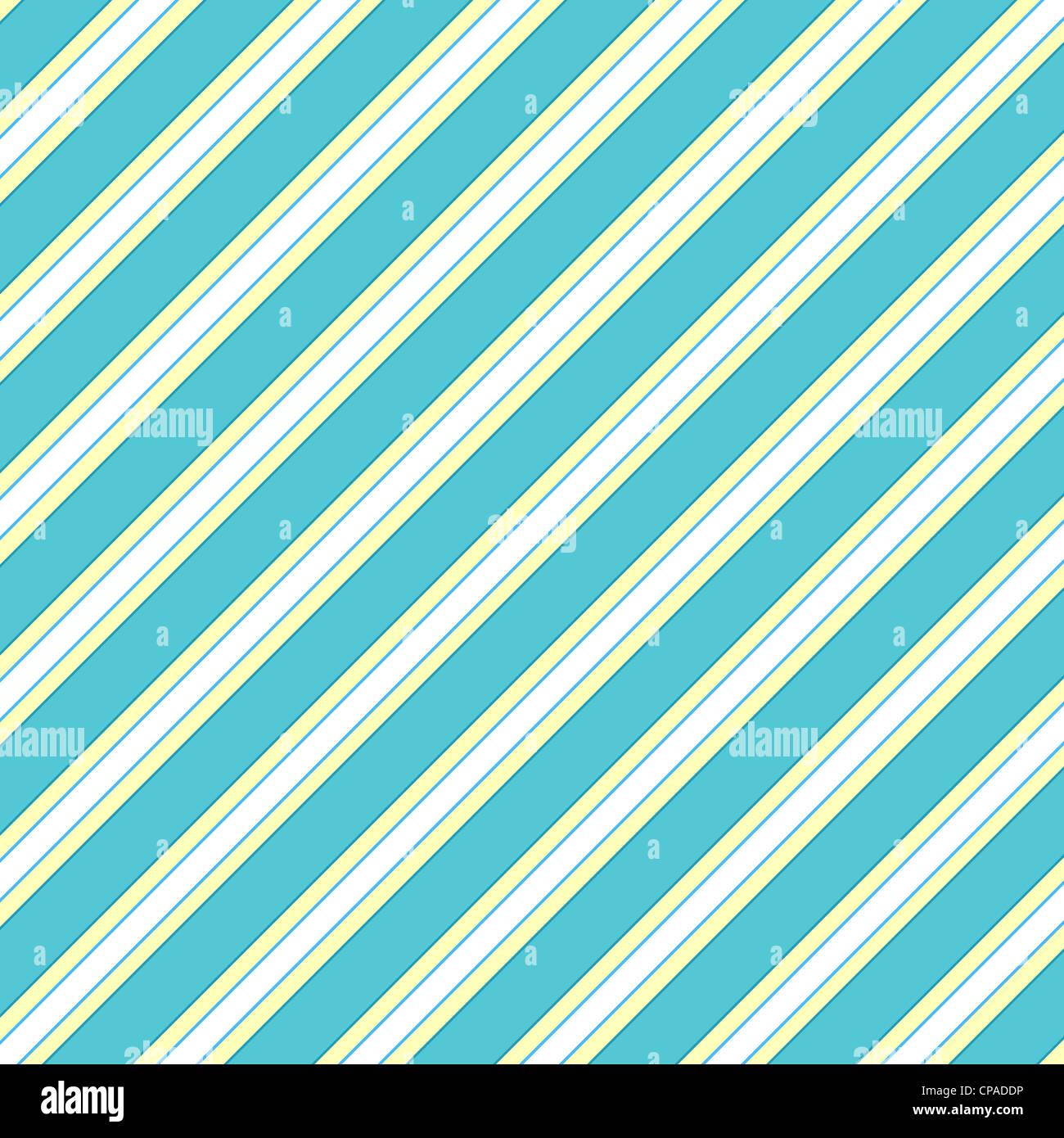 Diagonal stripes pattern in blue, white and yellow Stock Photo