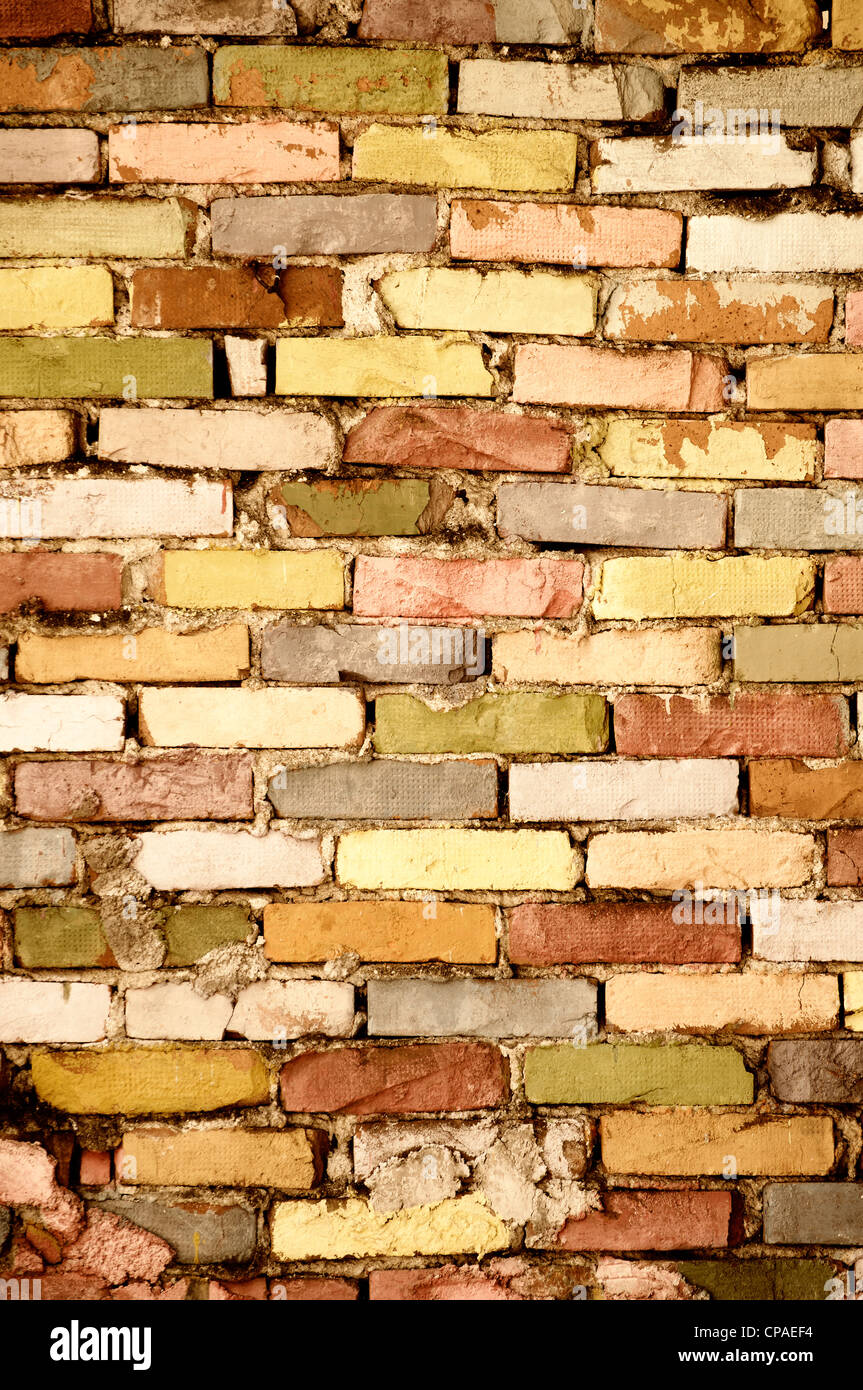 Colorful Brick Wall Stock Photos & Colorful Brick Wall Stock Images ...