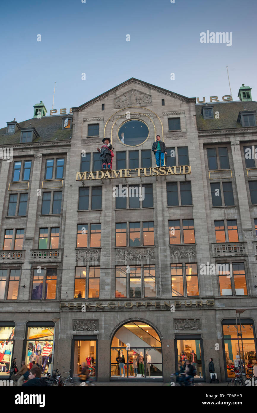 Madame Tussaud and shopping center at Dam square - Stock Image
