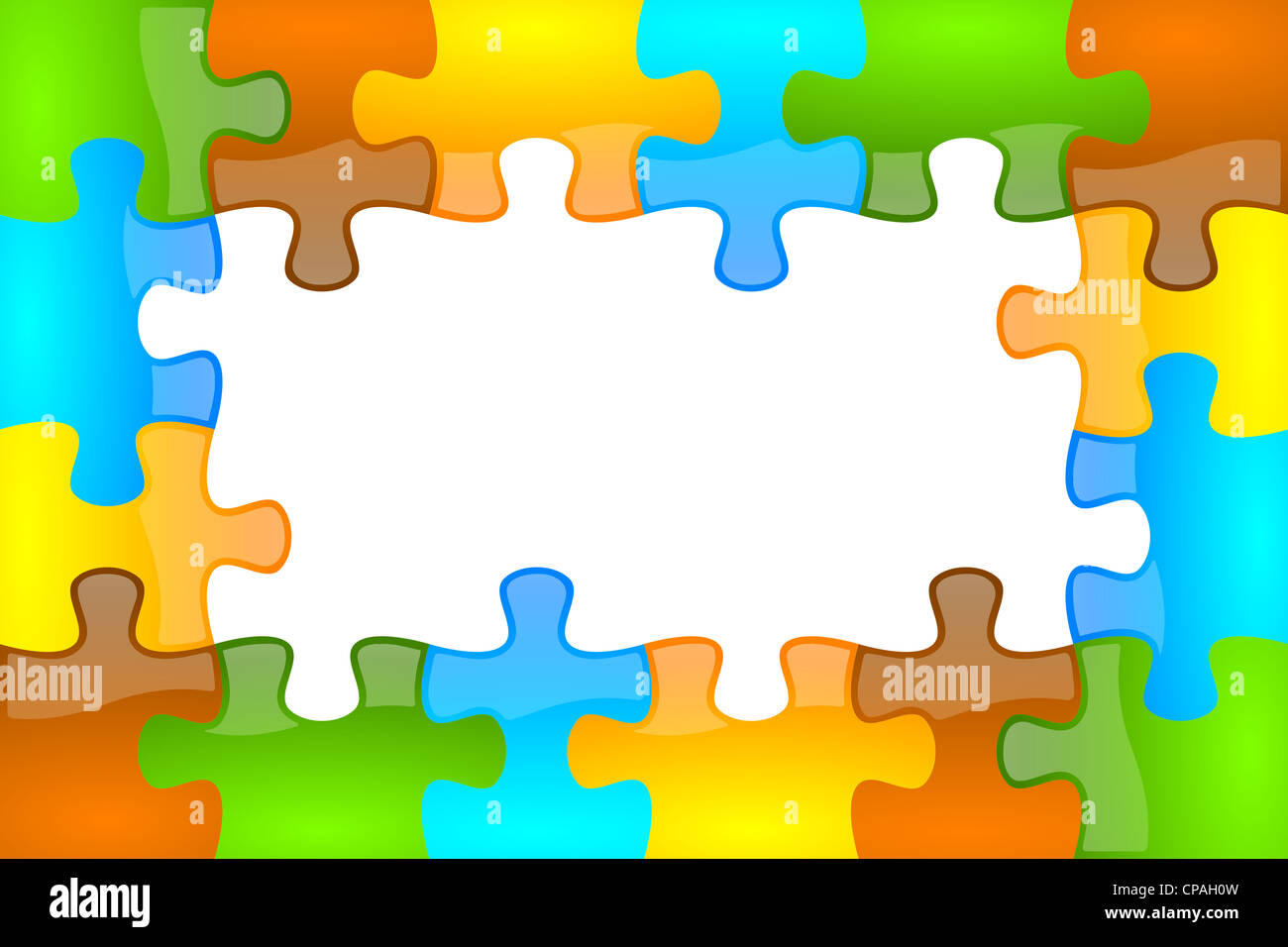 Colored and jazzy puzzle frame background 4 x 6 format Stock Photo ...
