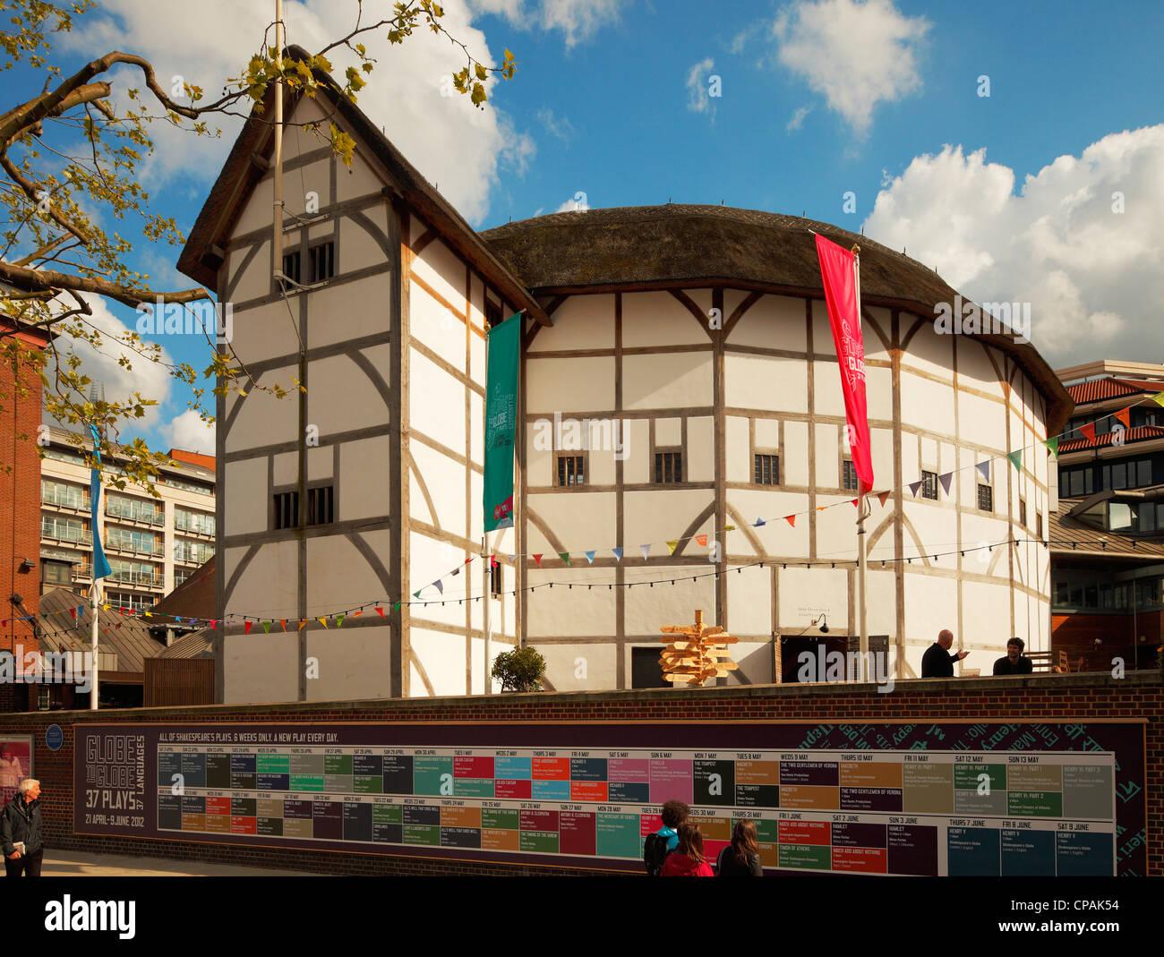 Globe Theatre, London. - Stock Image