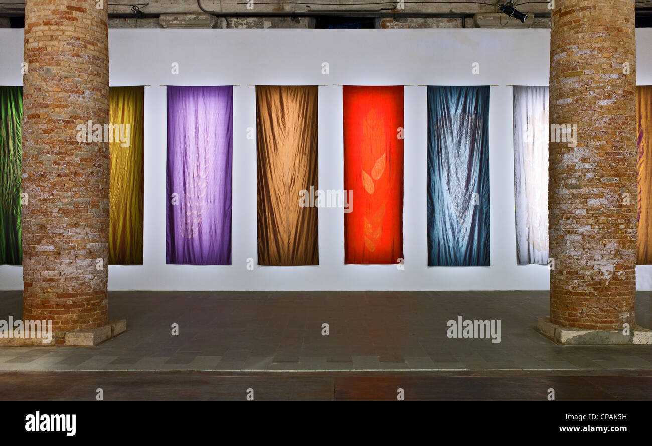 Italy, Venice, Biennale 2011, the modern art exhibition in the Arsenale's halls - Stock Image
