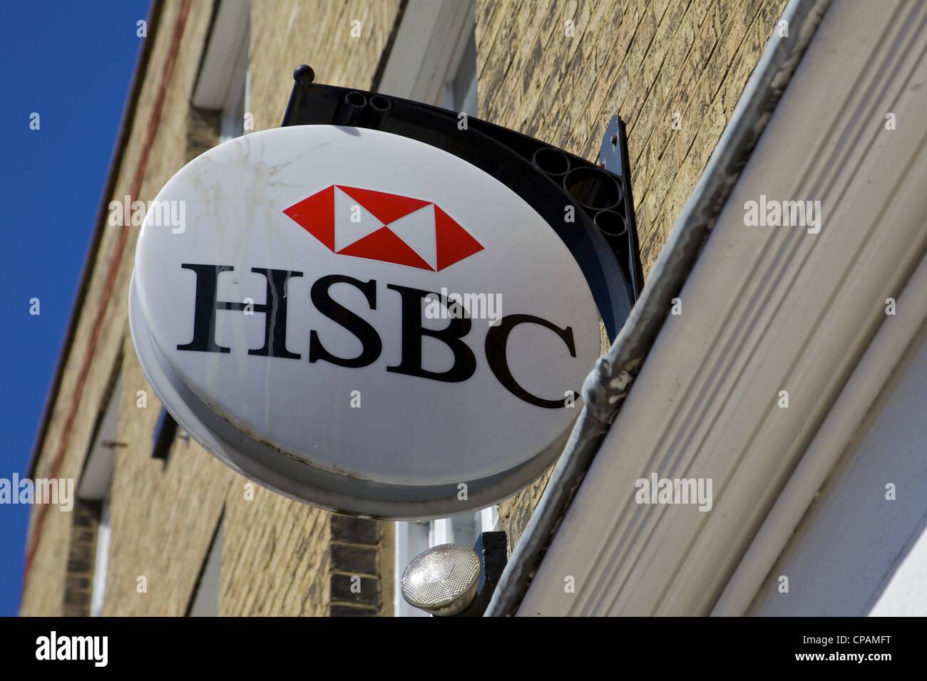 A HSBC bank sign, England - Stock Image