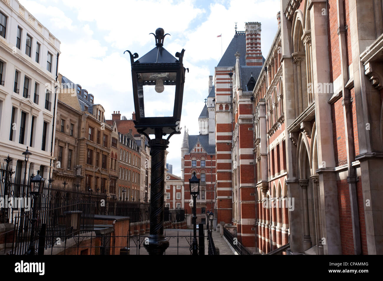 Bell Yard, High Court, The Royal Courts of Justice, London, England, UK. - Stock Image