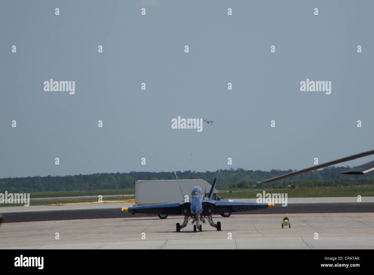 Dozens of acts performed on the opening night of the 2012 Cherry Point Air Show, May 4, at Marine Corps Air Station - Stock Image
